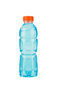 The blue energy drink in plastic bottle