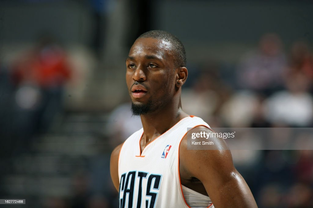 A close up shot of <a gi-track='captionPersonalityLinkClicked' href=/galleries/search?phrase=Kemba+Walker&family=editorial&specificpeople=5042442 ng-click='$event.stopPropagation()'>Kemba Walker</a> #15 of the Charlotte Bobcats during the game against the Minnesota Timberwolves at the Time Warner Cable Arena on January 26, 2013 in Charlotte, North Carolina.