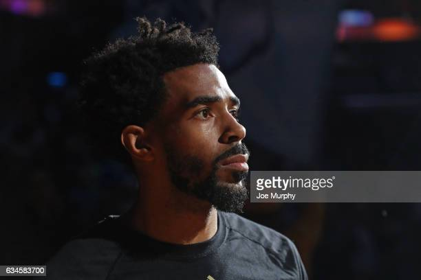A close up shot of Mike Conley of the Memphis Grizzlies before the game against the Phoenix Suns on February 8 2017 at FedExForum in Memphis...