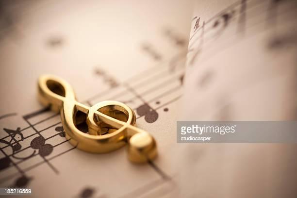 Close up shot of music notes