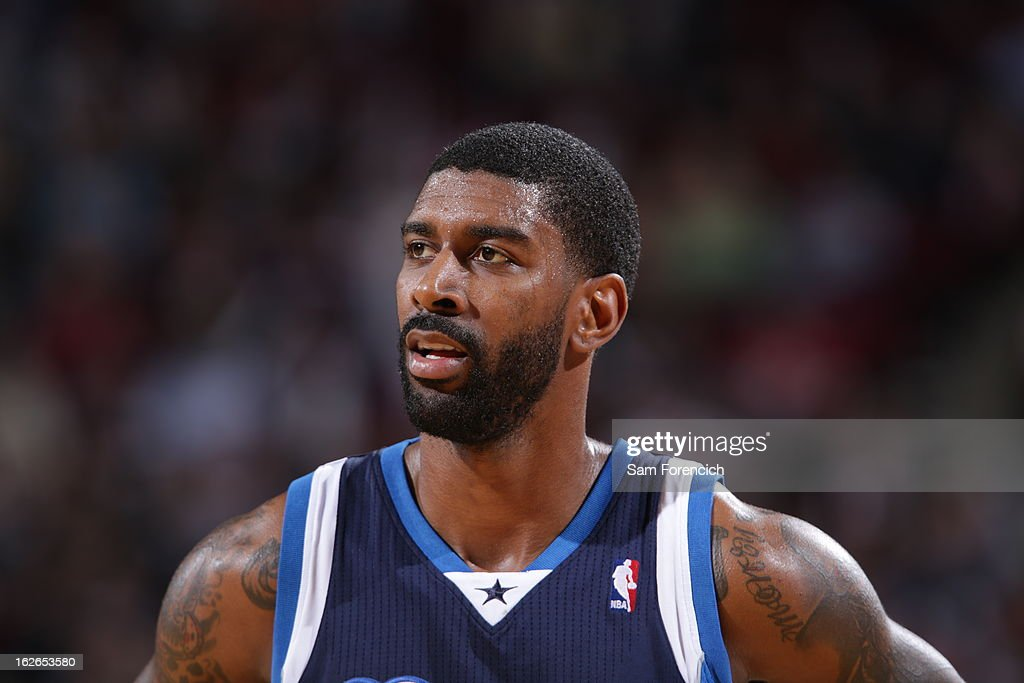 A close up shot of O.J. Mayo #32 of the Dallas Mavericks during the game against the Portland Trail Blazers on January 29, 2013 at the Rose Garden Arena in Portland, Oregon.