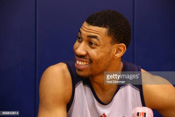 A close up shot of Otto Porter Jr #22 of the Washington Wizards during an allaccess practice at the Washington Wizards practice Facility on March 17...