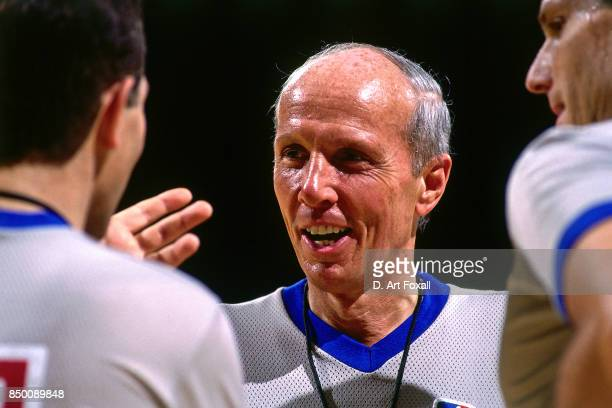 A close up shot of Referee Dick Bavetta during a game at the Los Angeles Memorial Sports Arena in Los Angeles California circa 1991 NOTE TO USER User...