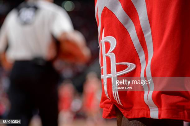 A close up shot of the Houston Rockets shorts during the game against the Chicago Bulls on February 3 2017 at the Toyota Center in Houston Texas NOTE...