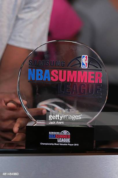 A close up shot of the MVP Championship Trophy after the Las Vegas Summer League Championship on July 20 2015 at the Thomas Mack Center in Las Vegas...
