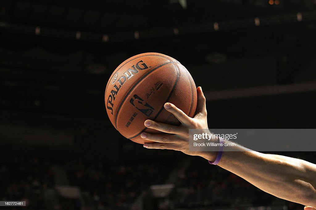 A close up shot of the offcial NBA Spalding basketball in the game where the Charlotte Bobcats played against the Minnesota Timberwolves at the Time Warner Cable Arena on January 26, 2013 in Charlotte, North Carolina.