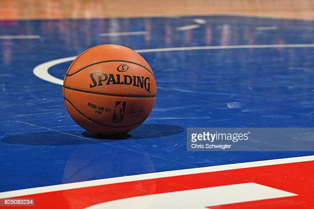 A close up shot of the Official NBA Spalding Basketball during the Houston Rockets game against the Detroit Pistons on November 21 2016 at The Palace...
