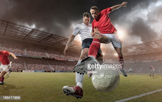 Close Up Soccer Action