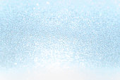 Close up soft blue Paper Glitter bokeh abstract background