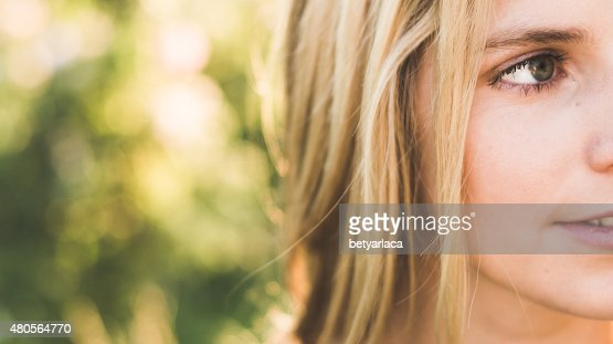 Close up summer portrait : Stock Photo
