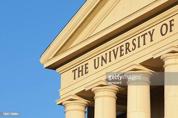 Close up the university of sign