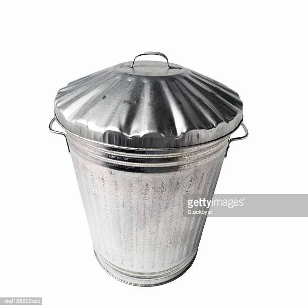 Close up view of a dustbin