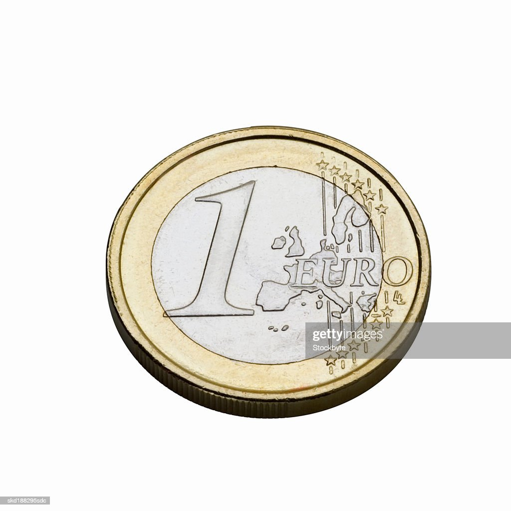 Close up view of a euro coin : Stock Photo