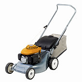 Close up view of a lawn-mower
