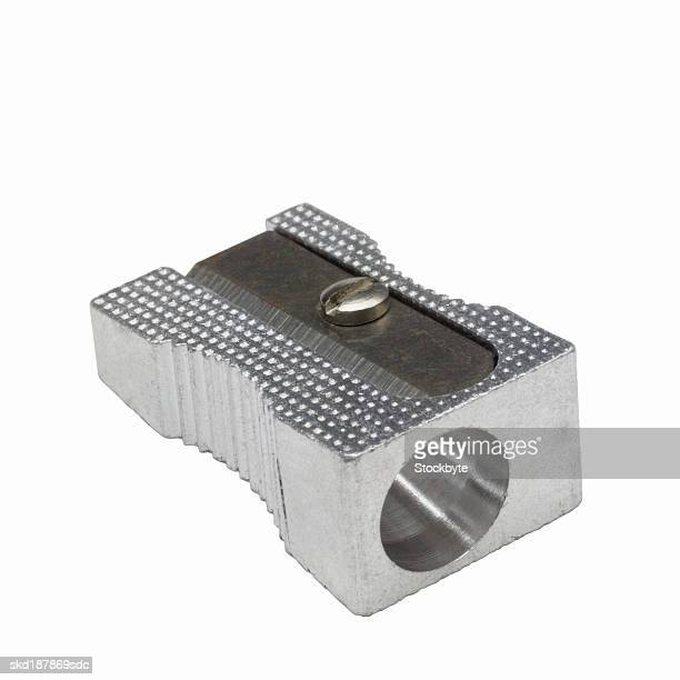 Close up view of a pencil sharpener