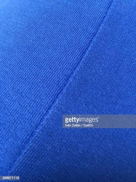 Close Up View Of Blue Textile