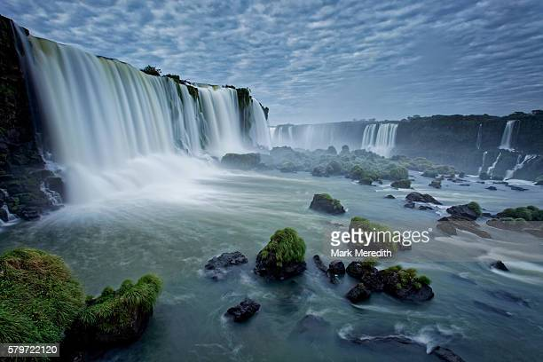 Close up view of Floriano Falls at Iguazu Falls in Brazil
