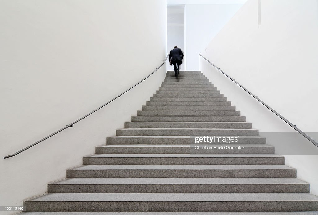 Close up view of staircase