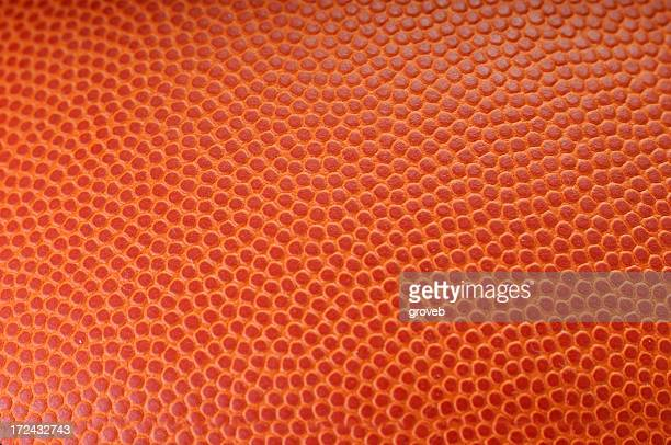 Close up view of texture on a basketball.