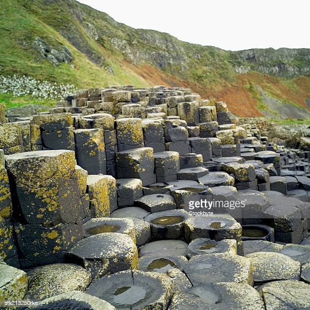 Close up view of the Giants Causeway in County Antrim