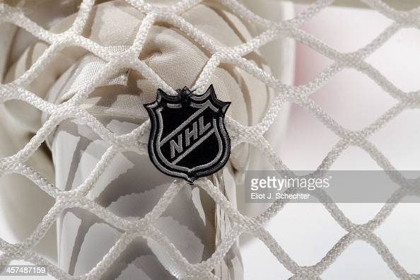 A close up view of the goal netting prior to the start of the game between the Florida Panthers and the Detroit Red Wings at the BBT Center on...