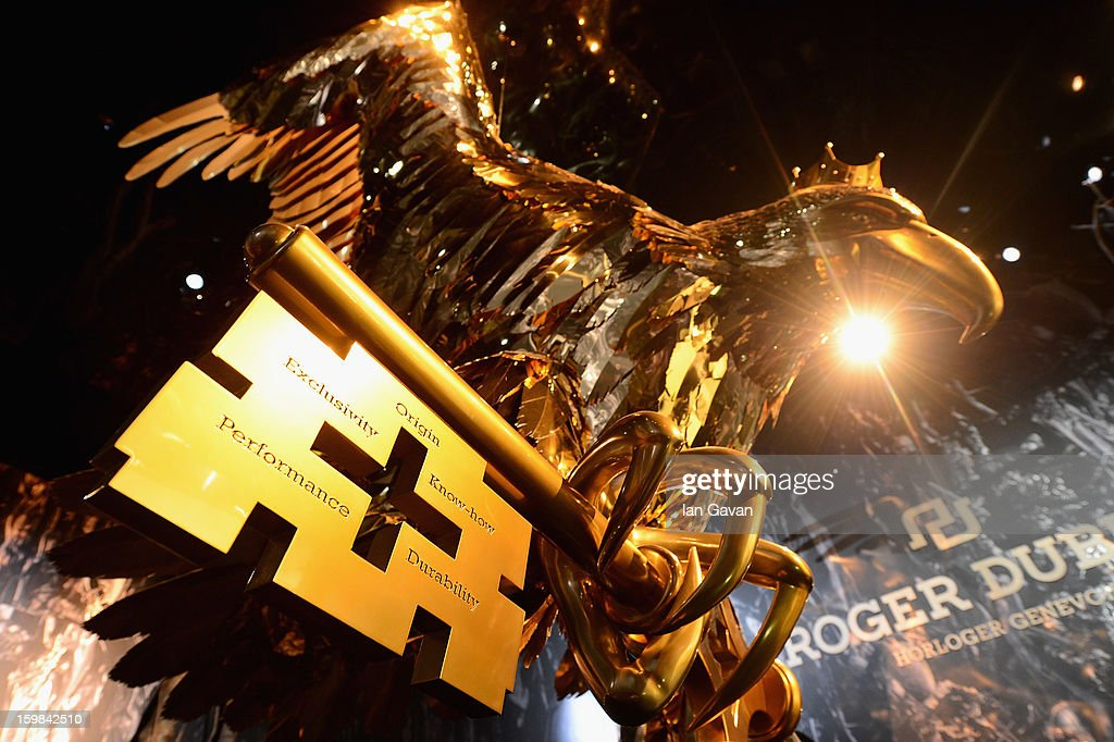 A close up view of the Roger Dubuis eagle during the 23rd Salon International de la Haute Horlogerie at the Geneva Palexpo on January 21, 2013 in Geneva, Switzerland.