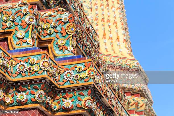 Close up view of Wat Pho buddhist temple in Bangkok ( Thailand )