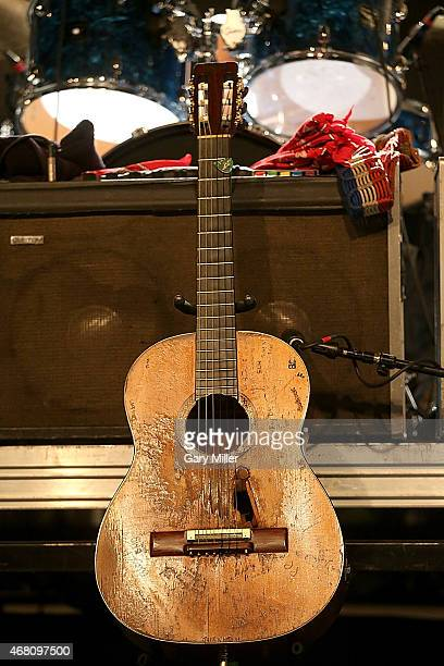 Close up view of Willie Nelson's guitar 'Trigger' during the Heartbreaker Banquet on March 19 2015 in Luck Texas