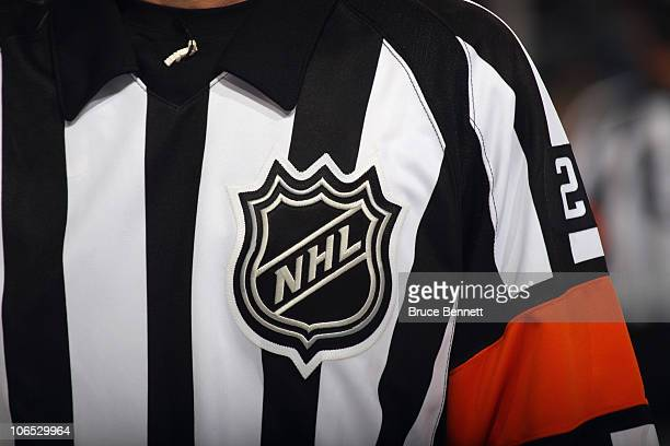 A close up view referees uniform photographed during the game between the Boston Bruins and the Buffalo Sabres at the HSBC Arena on November 3 2010...