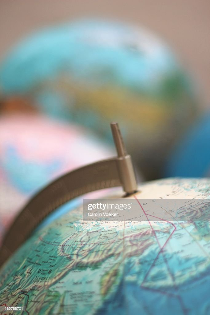 Close up vintage globi