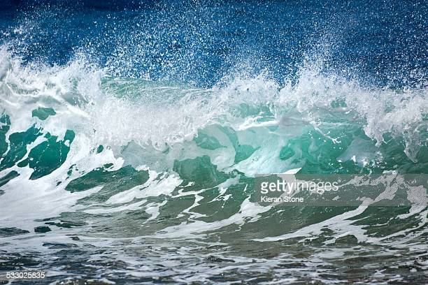 Close up wave on beach