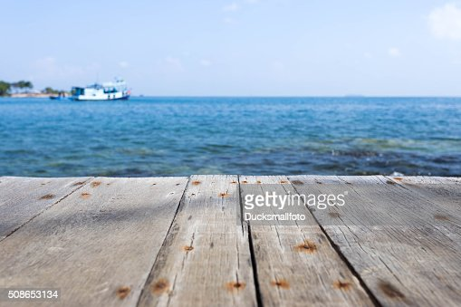 Close up with wooden walkway : Stock Photo