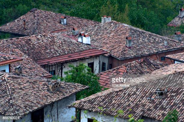 Close view of old houses of Safranbolu, Karabuk, Turkey