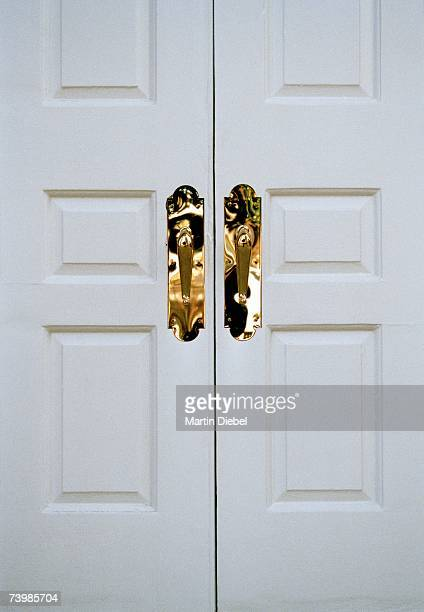 Closed double doors