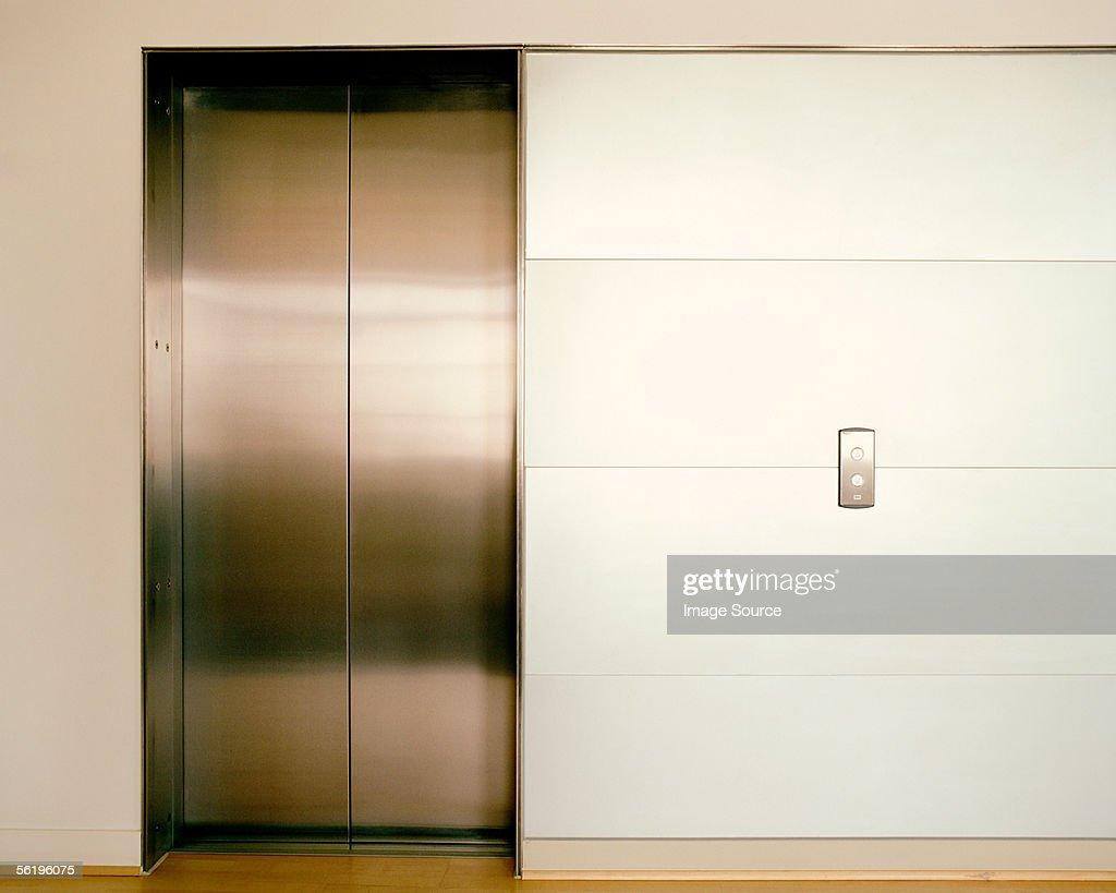 Closed elevator doors