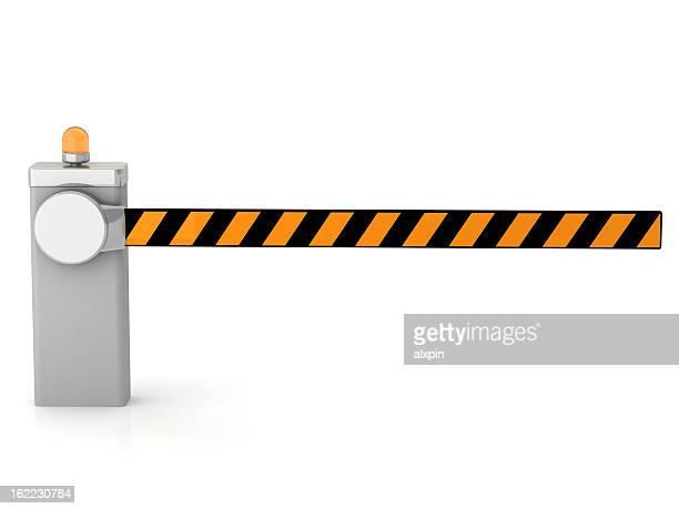 Der Einfahrtsschranke geschlossen
