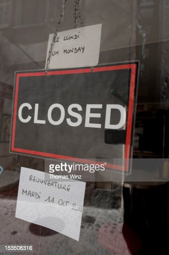 Closed sign : Stock Photo