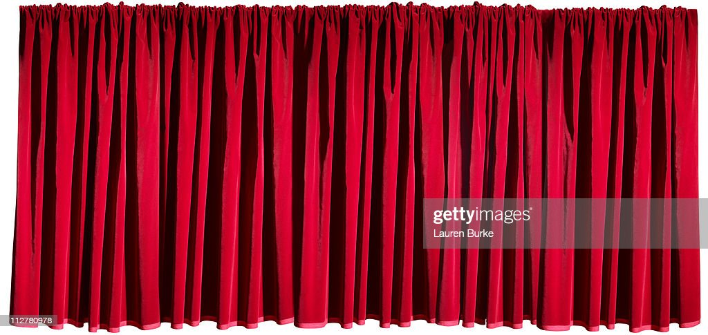 Closed Stage Curtains : Stock Photo