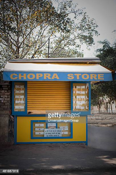 Closed store New Delhi India