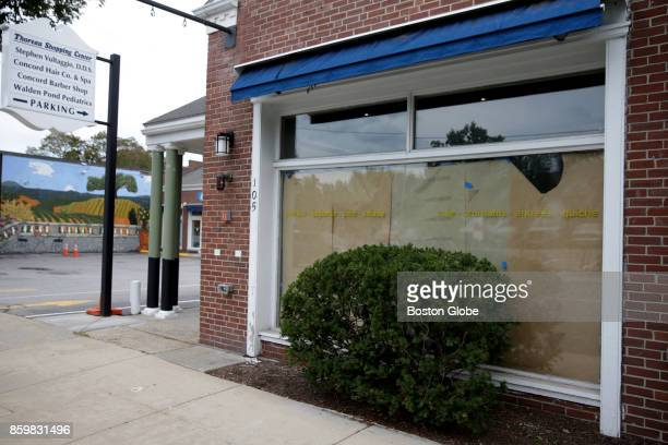 A closed storefront is pictured at 105 Thoreau St in Concord MA on Sep 21 2017 Change is afoot in historic Concord Center where the Main Street area...