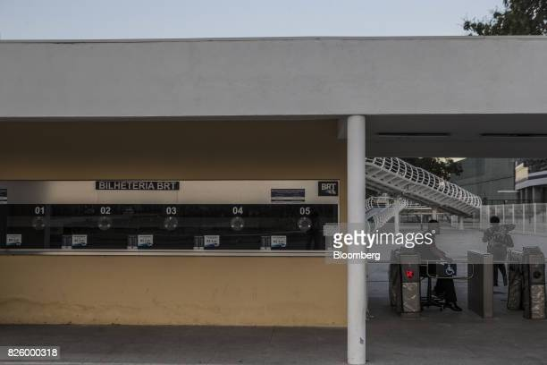 A closed ticket counter for a Bus Rapid Transit station is seen next to Olympic park in Rio de Janeiro Brazil Brazil on Wednesday Aug 2 2017 Nearly...