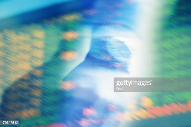 Closed Up Image of Someone Wearing a Watch, a Timetable in his Background, Blurred Motion, CG