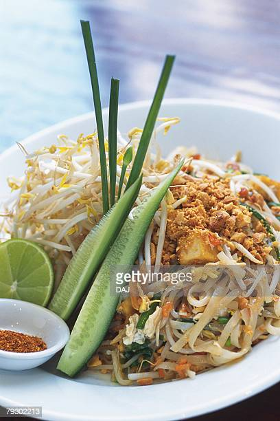Closed Up Image of Thai-style Noodles, High Angle View