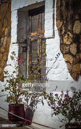 Closed window shutters : Stock Photo