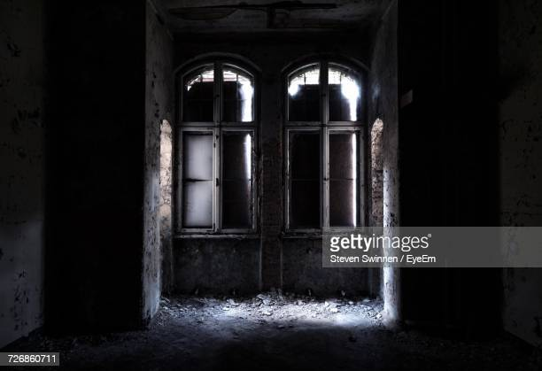 Closed Windows In Abandoned Home