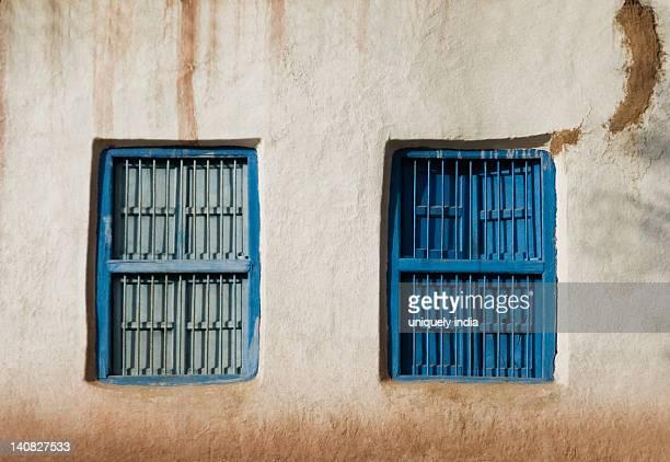 Closed windows of a house, Vaishno Devi, Katra, Jammu And Kashmir, India