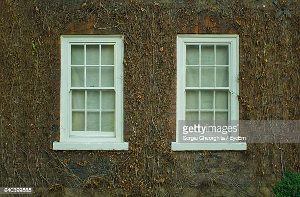 Closed Windows Of Old House