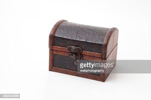 Caja de madera cerrada : Foto de stock