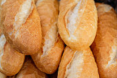 ศoaf of bread-  Fresh bread prompt to serve. Bread loaves background.