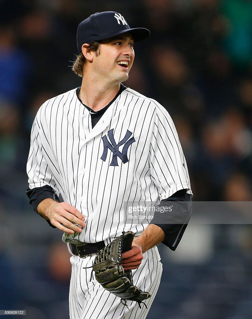 Closer <a gi-track='captionPersonalityLinkClicked' href=/galleries/search?phrase=Andrew+Miller+-+Baseball+Player&family=editorial&specificpeople=4496823 ng-click='$event.stopPropagation()'>Andrew Miller</a> #48 of the New York Yankees delivers a pitch against the Boston Red Sox during a game at Yankee Stadium on May 6, 2016 in the Bronx borough of New York City. The Yankees defeated the Red Sox 3-2.